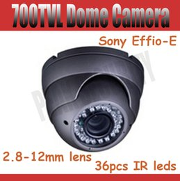 Wholesale Effio Dome Cameras - Effio-e Sony CCD 700TVL Vandalproof IR CCTV Dome Camera with 2.8-12mm Lens 36pcs IR LED Lights