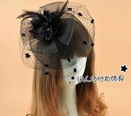 Wholesale Wedding Birdcage For Sale - Cute Party Bridal Hats Mesh Dot Feather Flower Bow Fascinator Hats Wedding Hat Veils Wedding Bridal Birdcage Veil For Sale UK