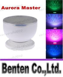 Wholesale Aurora Master Lamp - llfa784 Mini Portable Romantic Aurora Master 7 Colorful LED Light Projectors Speakers Ocean Wave Rainbow Projector Speaker Lamp