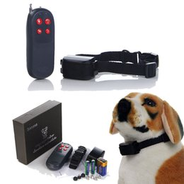 Wholesale Electric Bark Stop Collar - 2016 250m Remote Pet Control Stop Bark Anti Bark Shock Vibration No Harm 4 in 1 Electric Small Medium Large dog Training Collar