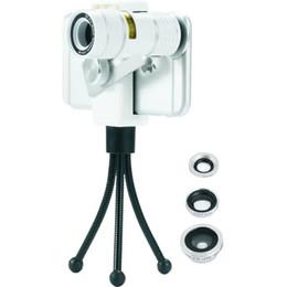 Lente 4in1 on-line-4In1 Clipe Universal 9X lente teleobjetiva + 180 graus fisheye + 0.67x Grande-Ângulo + 10x macro Lente Para telefones inteligentes lente