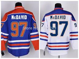 Wholesale Cheap Stitched Jerseys China - Men's Wholesale Ice Hockey Jerseys Cheap 2015 Edmonton Oiler 97 Connor McDavid Stitched Logo Jerseys Free Shipping Mix Order From China