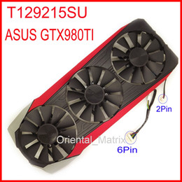 Wholesale Graphics Cards Asus - Wholesale- Free Shipping EVERFLOW T129215SU 12V 0.5A With Housing For ASUS GTX980TI Graphics Card Cooler Cooling Fan