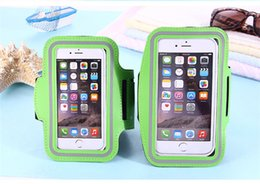 Wholesale Arm Apple - For Iphone X Sports Running Waterproof Armband Case Workout Armband Holder Pounch Cell Mobile Phone Arm Bag Band 11 colors
