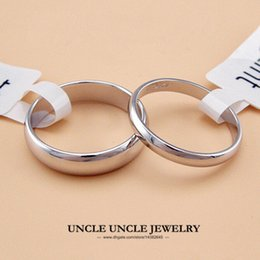 Wholesale Gold 2mm - Unisex Ring White Gold Plated Width 5mm 2mm Classic Simple Finger Ring Wholesale 18KRGP Stamp