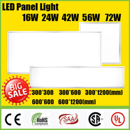 Wholesale Market Lights - Ultrathin 16W 24W 42W 56W 72W LED Panel Light 300*300 300*600 600*600 600*1200mm Fixture Recessed Ceiling office market Lights Freeshipping
