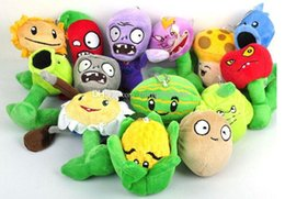 "Wholesale Zombie Soft Toys - Free shipping, New 5"" Plants VS Zombies Soft Plush Toy With Sucker A full 1 set 14 pcs"