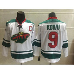 Wholesale Top Sellers Jerseys - Hockey Jerseys Wild #9 Mikko Koivu White Mens Hockey Shirts Cheap Hockey Wears Top Sellers Hockey Jerseys New Arrival Best Outdoor Jerseys