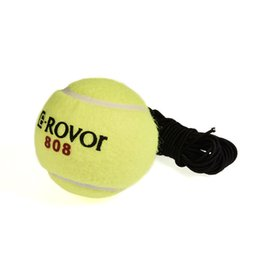 tennisbälle elastisch Rabatt Großhandels-Tennis-Trainingsball mit Gummiband für Training Anfänger-Tennisball-elastisches Gummiband Ball 60mm