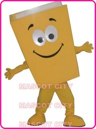 Wholesale Books Ivory - New Custom Advertising Costumes Yellow Blue Red Recycled Notebook Book Mascot Costume Cartoon Character Theme Mascotte Fancy Kit