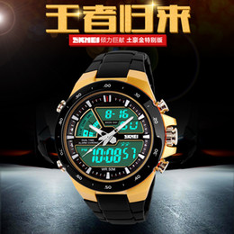 Wholesale Digits Led Watch - New 2015 Skmei Brand Men sports watches Men Relojes LED Digit Watch Relogio Masculino Fashion Casual Quartz Army military men Wristwatch