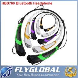 Wholesale Earphones Headphones For Iphone - HBS 760 HBS760 Bluetooth Stereo Headset Earphones Sport Neckband Headsets In-ear Headphones Multi-Colors For iPhone iPad Samsung hot sale