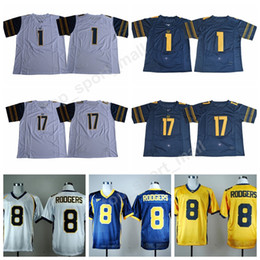 Wholesale Football Bearing - 2017 2018 College 1 Melquise Stovall Jersey Men California Golden Bears 17 Vic Wharton III Jerseys Sports Embroidery Top Quality On Sale