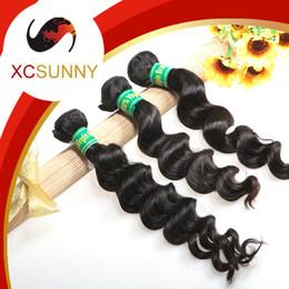 Wholesale Buy Loose Hair - XCSUNNY Buy Brazilian Human Hair 6A Brazilian Weft Hair 3pcs Loose Wave Brazillian Hair Weave Bundles Human Hair Extensions