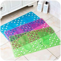 Wholesale Padded Kitchen Floor Mats - 67.8*36.5cm Color PVC Shower Mats Anti-slip Eco Friendly PVC Bathroom Kitchen Floor Rug Pad Foot Massage Mats SK760