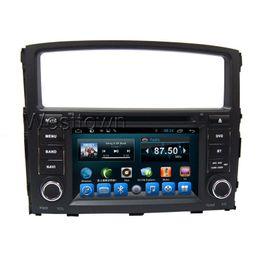 Wholesale Dvd Car Mitsubishi Pajero - Double din android 4.4 capacitive screen car dvd player built in radio swc audio mp3 for Mitsubish Pajero Montero