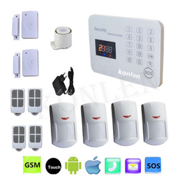 Wholesale Sim Card Voice - Android GSM Home Security Alarm System 433mhz Voice LCD Wireless Wired For House Safety Alarmas Casas SMS SIM Card Auto Dialer