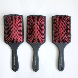 Wholesale Top Hair Tools Wholesale - Top Quality Hair brush comb Plastic Handle with Rubberized Coated Boar Bristle Hair Brush hair extensions tools