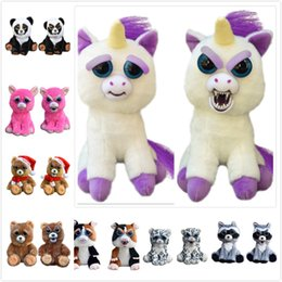 Wholesale Change Face Cartoon - Feisty Pets Plush Toys Change Face Cartoon Unicorn Rabbit Panda Christmas Stuffed Toys Animal Doll For Kids Christmas Gifts DHL Shipping
