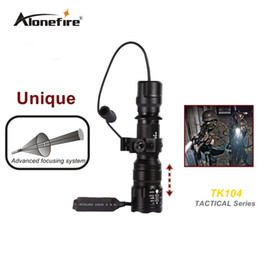 Wholesale Tactical Pistol Scope Mount - TK104 L2 LED Tactical Gun Flashlight 2200LM 5 mode Pistol Handgun Torch Light Lamp Taschenlampe+gun scope mount+remote switch