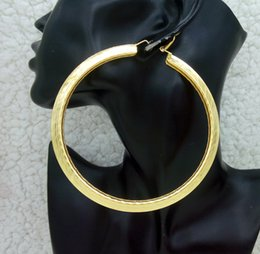 Wholesale Large Round Fashion Earrings - Wholesale-18K Yellow Gold Plated Super Big Large Circle Hoop Earrings for Women Sexy Round Earings Fashion Hoops Brincos Earring Jewelry