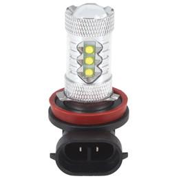Wholesale Daytime Running Light Osram - . New 80W H11 Osram Chip High Bright 16x LED Car Daytime Running Light fog lights