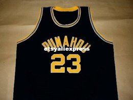 Wholesale Cool Hockey Jerseys - Wholesale Mens black BARACK OBAMA PUNAHOU HIGH SCHOOL JERSEY COOL BLACK NEW ANY SIZE XS - 5XL Retro Basketball Jerseys