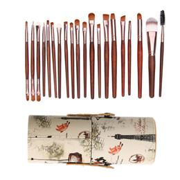 2019 utilizza spazzole trucco 20pcs Eye Makeup Brush Set Eyeshadow Foundation Tool + 1 Tubo rotondo Maquiagem Beauty Tool per ombretto Foundation correttore uso sconti utilizza spazzole trucco