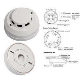 Wholesale Smoke Detectors Optical - 2014 New Arrival Wired Networking Sensor Smoke Detector For Sale Optical Host components Smoke Detector Alarm With Low Price A5