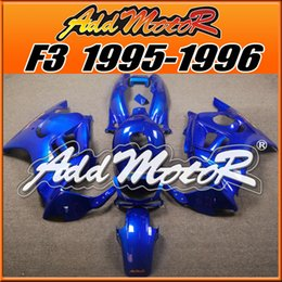 Wholesale F3 Body Fairings - Addmotor Injection Mold Fairings For Honda CBR600F3 CBR 600 F3 1995 1996 95 96 ABS Plastic Body Kit All Blue H3549+5 Free Gifts