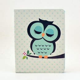 Wholesale Air Print Apple - Flower Cat Owl Elephant Pu Leather Case With Stand Holder card Slots For ipad 2 3 4 5 6 Air Air 2 Nice