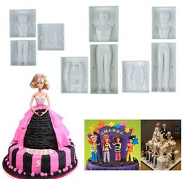 Wholesale Body Cake Mold - Hot Sale Fondant 3D People Shaped Cake Figure Mold Family Set Human Body Decorating Mould for Creating Men Women Children