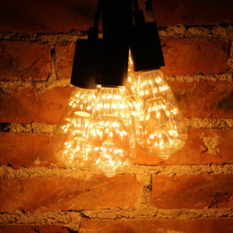 Wholesale Beautiful Bulbs - A60 G80 ST64 3W Vintage Edison Bulbs 2200k Warm White Beautiful Romantic LED Decorative Light Bulbs for Holiday Christmas Indoor Party