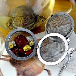 Wholesale Tea Infusers Pots - 304 Stainless Steel tea infuser artifact 4.5cm   5.5cm   7cm  9cmTea Pot Infusers Sphere Mesh round Tea Strainer Ball high quality wholesale