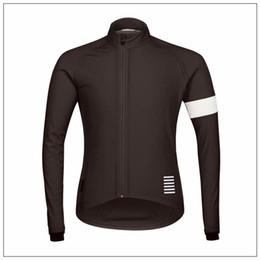 Wholesale Uv Bike Wear - Hot New Rapha Jerseys Black Long Sleeves Rapha Cycling Jerseys Winter Cycling Shirts Thermal Fleece Bike Wear Comfortable Breathable