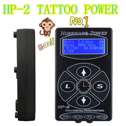 Wholesale Free Units - Best Sell Tattoo Power Supply Hurricane HP-2 Power Supply Tattoo Digital Dual Black Tattoo Power Supplies Unit Free Shipping