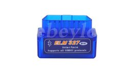 Wholesale Code Reader For Pc - 10PCS Lot 2016 SuperMini ELM327 Bluetooth V2.1 OBD2 II Auto Diagnostic Tool ELM 327 Bluetooth Work ON Android Torque PC DHLFree Shipping