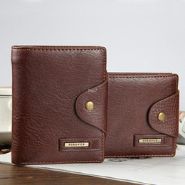 portefeuille de cartes de poche Promotion Purse Carteras de 2016 Portefeuilles d'homme 100% cuir véritable Famous Brand ZipperHasp Mens Wallet Card Brown Designer Holder courtes hommes