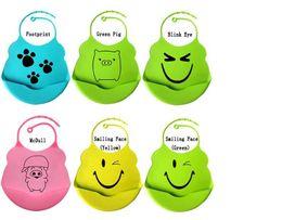 Wholesale Crumb Catcher - Apron Infant Baby Silicone 24 Styles Waterproof Kid Washable BB Bib Crumb Catcher Fun Characters Waterproof Silica Gel Baby Bibs Dhgate