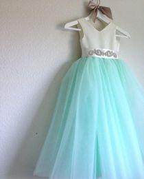 um ombro vestido de chiffon doce Desconto 2016 Nova Flor Meninas Vestido de Um-ombro Chiffon Meninas Pageant Vestido Com Miçangas Doces Meninas Vestidos de Festa Formal Wear 2016