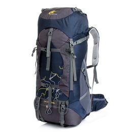 Mochila de montaña, 75L impermeable Ripstop Mountaineering Bag, Mochila de escalada al aire libre, trekking bagpack 7 colores desde fabricantes