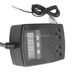 Wholesale Incubator Heat Pads - Double Socket Thermostat For Reptile Snake Lizard Incubator Heat Pad Aquarium K5