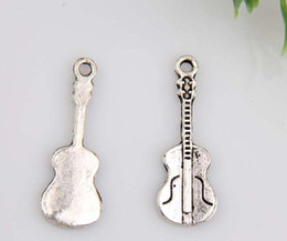 Caliente ! 150 unids Antiqued aleación de plata de la guitarra del encanto de la joyería DIY 27 x 10 mm (380) desde fabricantes