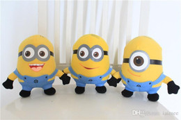 Wholesale Minions Sets Despicable - 3pcs set Despicable ME Movie Plush Toy 18cm Minion Minions plush toys with tags free shipping