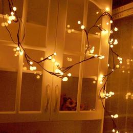2018 Innen Weihnachtsbeleuchtung Für Schlafzimmer  Weihnachtskugel Dekorative Schnur Beleuchtet 8.2Ft 72 LED Innen