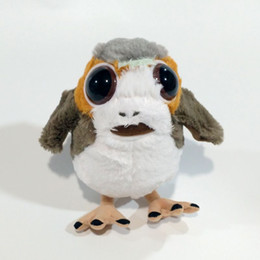 Wholesale Stuffed Boy Dolls - New Anime Doll BB-8 BB-9 Friends Porg Bird Plush Stuffed Soft Children Toy Plush Toys For Boys Girls Kids Christmas Gifts