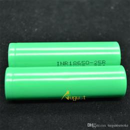 cellules 3.6v Promotion INR18650 25R Batterie 2500mAh 20A 3.6V 18650 Batterie Haute Drain Batterie Cellule 100% Authentique Nouveau