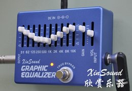 Wholesale Guitar Graphics - 10 +2 Band Equalizer EQ Guitar Effects Pedal XinSound EQ-99 by Handmade Graphic Equalizer