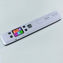 Wholesale A4 Sizes - Wholesale- High Speed Portable Scanner A4 Size Document Scanner 1050DPI JPG PDF Support 32G TF Card Mini Scanner Pen with Pre View PIcture