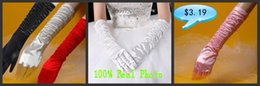 Wholesale Black Satin Full Length Dress - Cheap Real Image In Stock White Ivory Satin Bridal Glover For Wedding Dresses Party Gowns Bridal Accessories